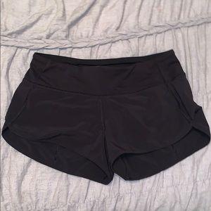 Lululemon Black Racer Shorts, size 4